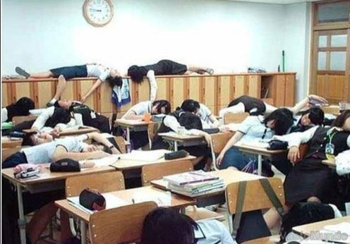 Sleeping in Class? – Granite High World Sleeping Student In Class