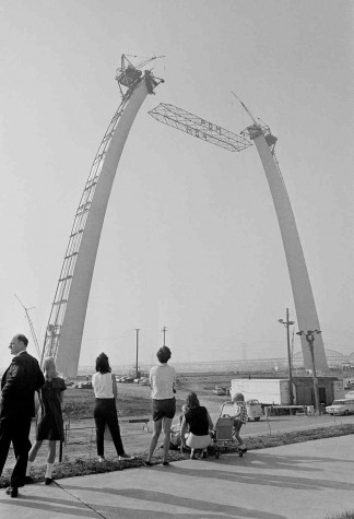 The Gateway Arch being Constructed in 1965