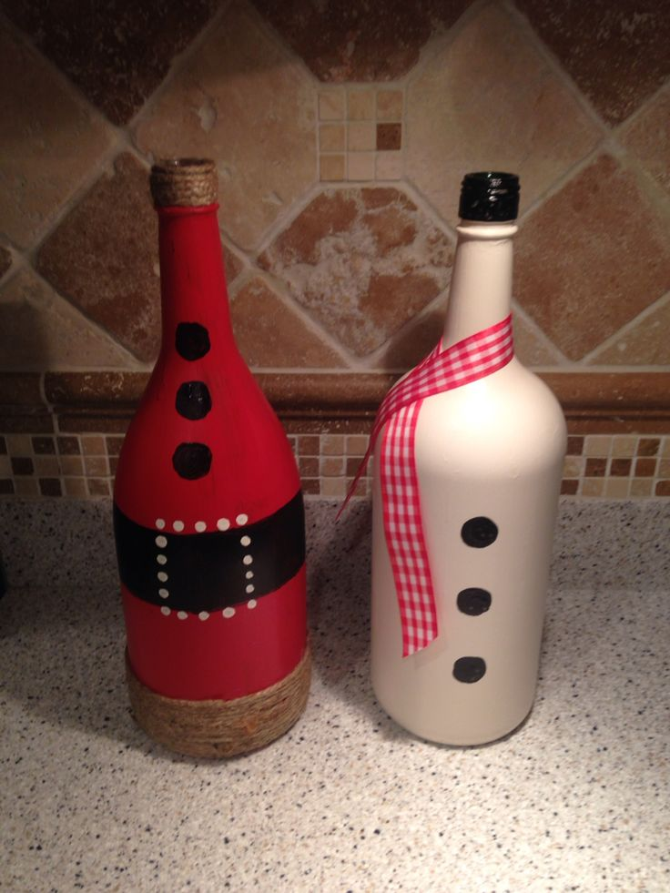 Diy christmas decorations granite high world for What can you do with empty wine bottles