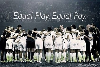 Many US women soccer players shared this image on social media to boost awareness towards their fight for equality.
