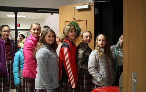 Kids at the Christmas Carol