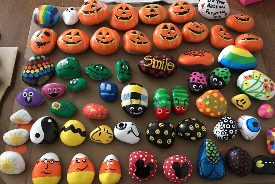 painted rocks in our community granite high world